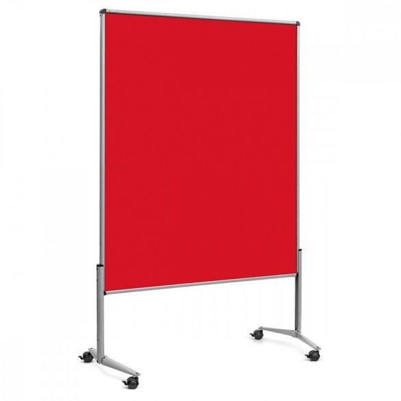 EuroPin® UT nem összehajtható Pinwand tábla paprika piros filces görgővel