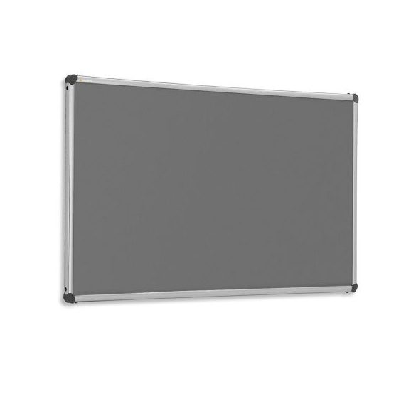 EuroPin® W, Wall pinboard: 122,5 x 150 cm / 48 x 59 inches anthracite felt