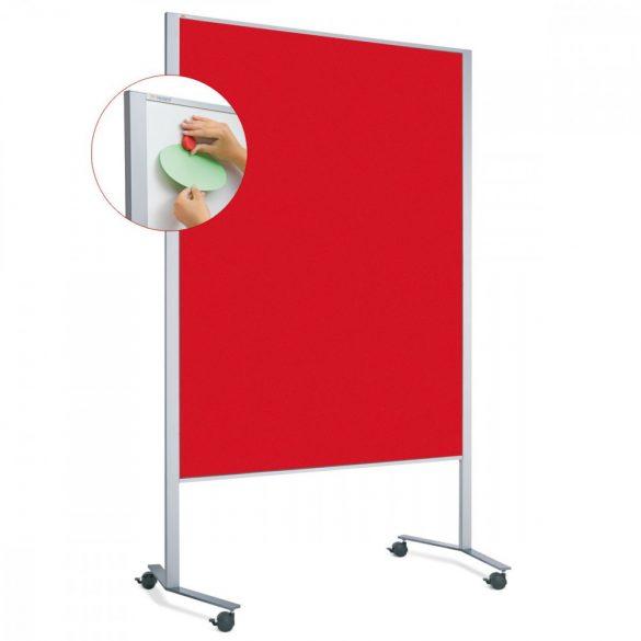 LW-11 Duo PinWand tábla paprika piros filces görgővel