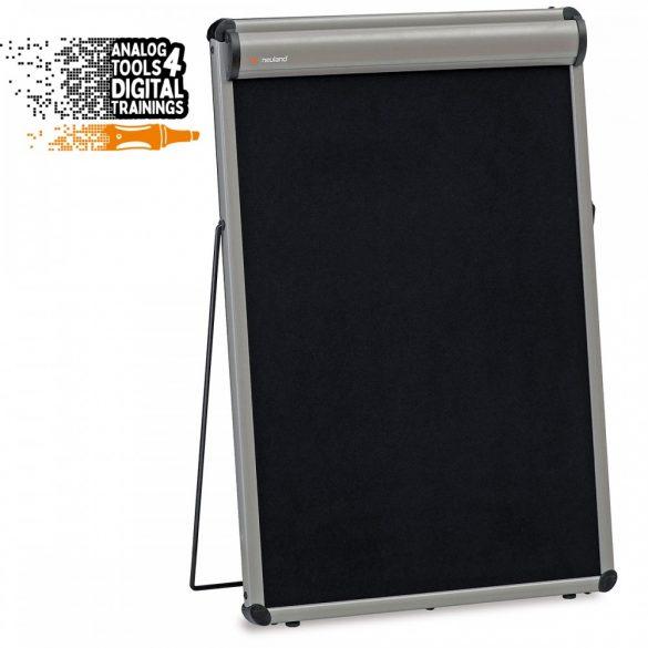 TableTop asztali flipchart tábla, fekete karton