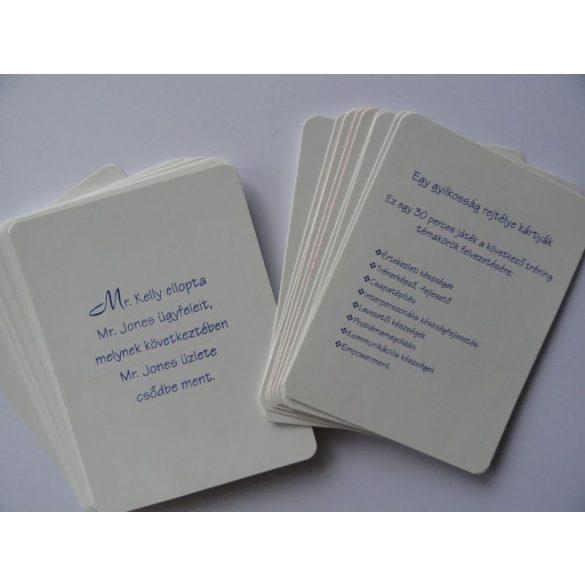 Egy gyilkosság rejtélye kártyák javított kiadás