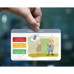Szociális kompetencia Coach kártya - Közlekedési lámpa indulati kontroll