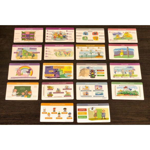 Coach kártya szett 3. Önismereti, folyamatot támogató, szociális kompetencia kártyákból 18 fajta