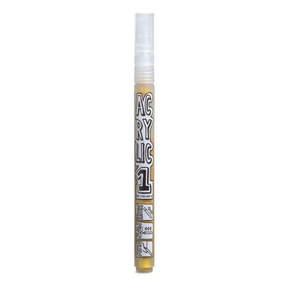 AcrylicOne vékonyhegyű, 1,5 mm kerek hegyű, AC 554 arany színű
