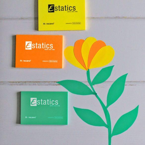 Estatics kártya szett 2 L (átlátszó/fehért/bézs/szürke) + 1 Neuland No.One® Estatics vágott hegyű filc, fekete 2-6 mm-es