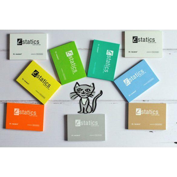 Estatics kártya szett 1 M (kék/zöld/sárga/narancs) + 1 Neuland No.One® Estatics kerek hegyű filc, fekete 1 mm-es