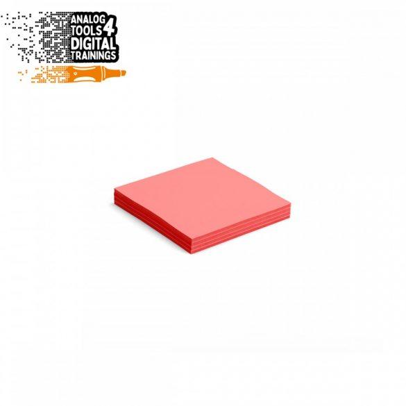 InstaCards moderációs kártya, Stick-It,  100 darabos, piros
