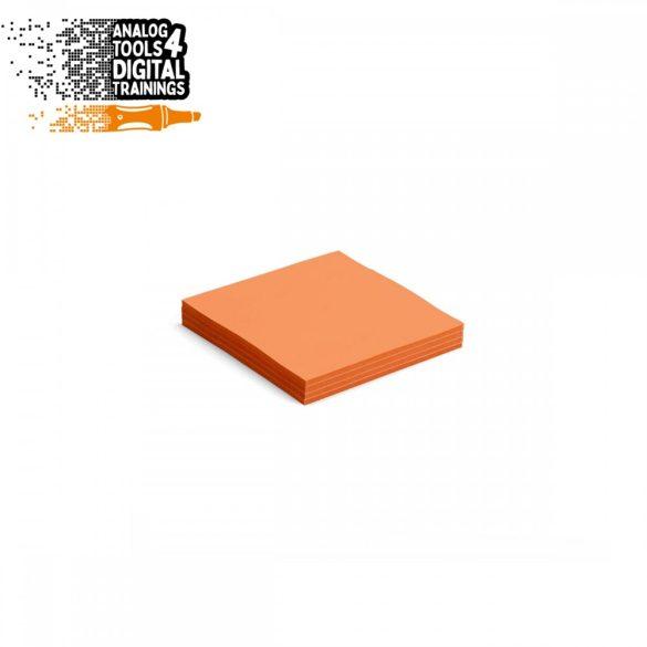 InstaCards moderációs kártya, Stick-It,  100 darabos, narancs