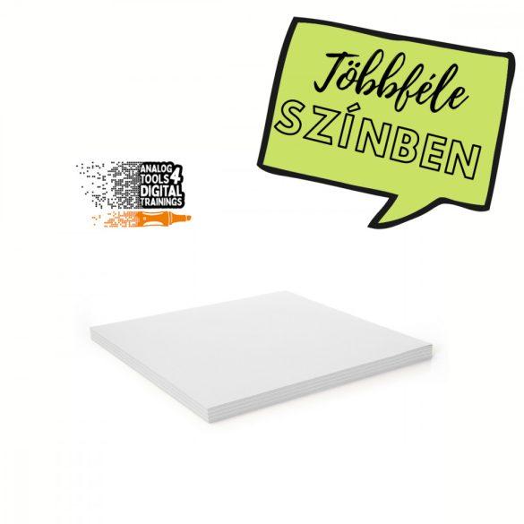 InstaCards maxi moderációs kártya, Stick-It,  100 darabos, fehér