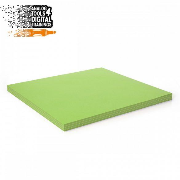 InstaCards moderációs kártya, Stick-It,  100 darabos, zöld