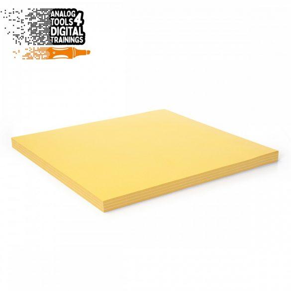 InstaCards maxi moderációs kártya, Stick-It,  100 darabos, sárga