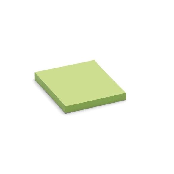 100 Square Stick-It X-tra Cards, green