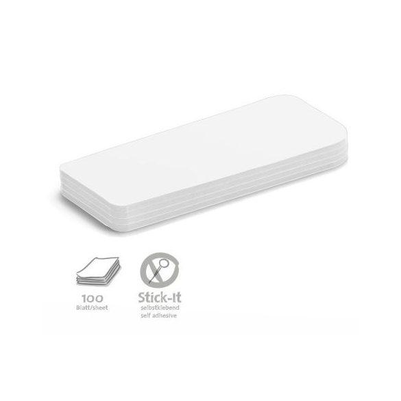 Stick-It Statement Öntapadós moderációs kártya állítás 100 db fehér