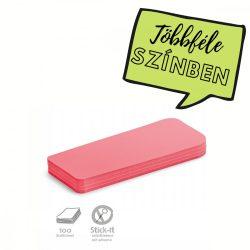Stick-It Statement Öntapadós moderációs kártya állítás 100 db piros