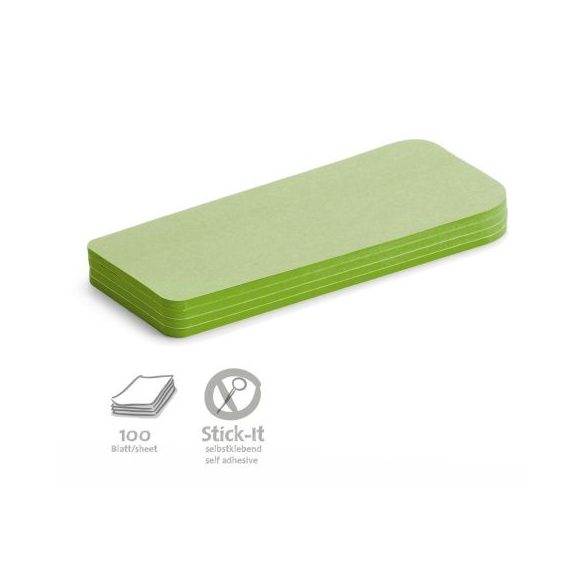 100 Statement Stick-It Cards, green