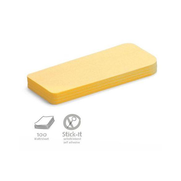 Stick-It Statement Öntapadós moderációs kártya állítás 100 db sárga