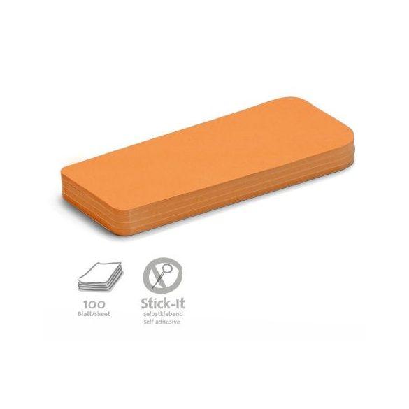 Stick-It Statement Öntapadós moderációs kártya állítás 100 db narancs
