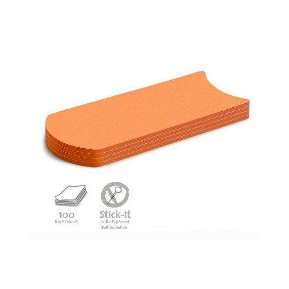 Stick-It Transmitter Öntapadós moderációs kártya átadó 100 db narancs
