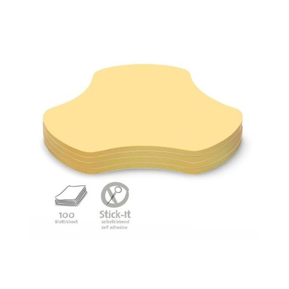 Stick-It Hub Öntapadós moderációs kártya középpont 100 db sárga
