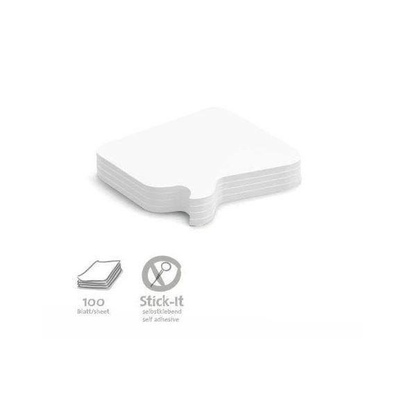 100 Bubble Stick-It Cards, white