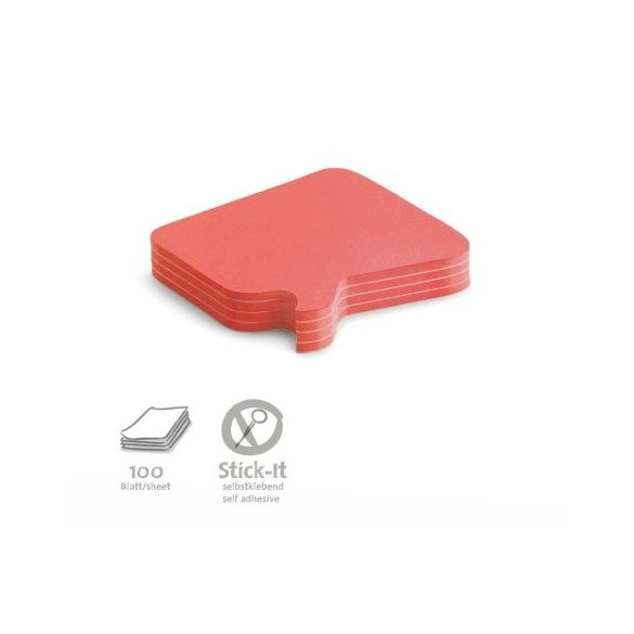 100 Bubble Stick-It Cards, red