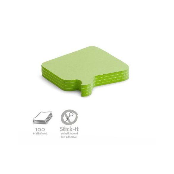 Stick-It Bubble Öntapadós moderációs kártya buborék 100 db zöld