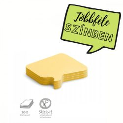 100 Bubble Stick-It Cards, yellow