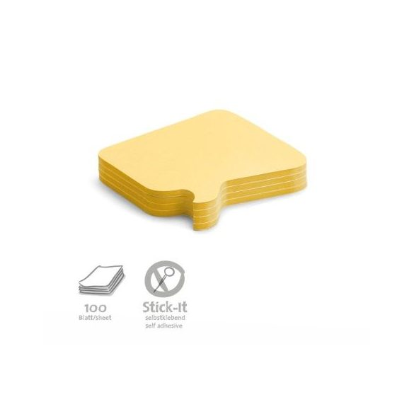Stick-It Bubble Öntapadós moderációs kártya buborék 100 db sárga