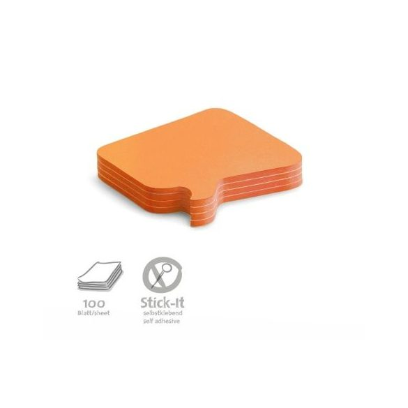 Stick-It Bubble Öntapadós moderációs kártya buborék 100 db narancs