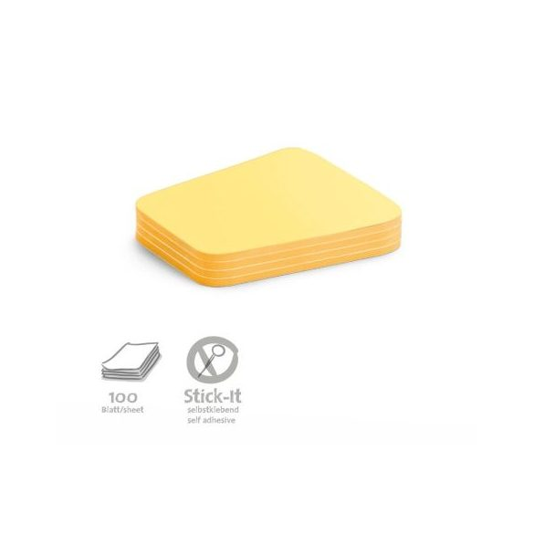 100 Comment Stick-It Cards, yellow