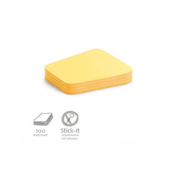 Stick-It Comment Öntapadós moderációs kártya megjegyzés 100 db sárga