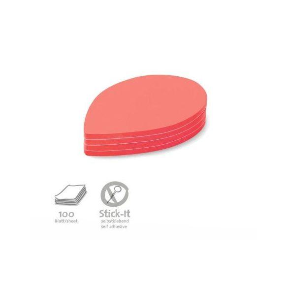 Stick-It Leaf Öntapadós moderációs kártya levél 100 db piros