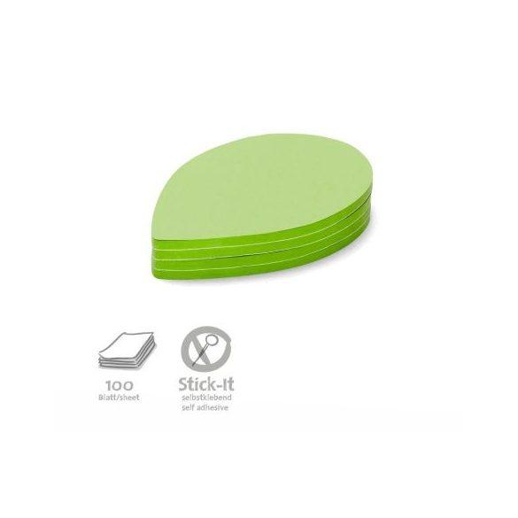 Stick-It Leaf Öntapadós moderációs kártya levél 100 db zöld