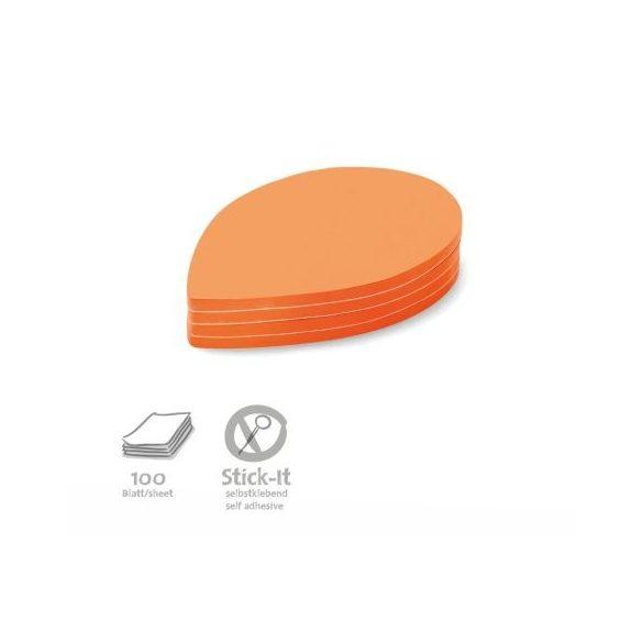 Stick-It Leaf Öntapadós moderációs kártya levél 100 db narancs