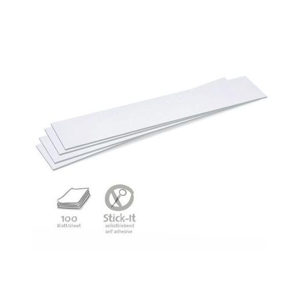 Stick-It Feliratcsík öntapadós moderációs kártya 100 db fehér