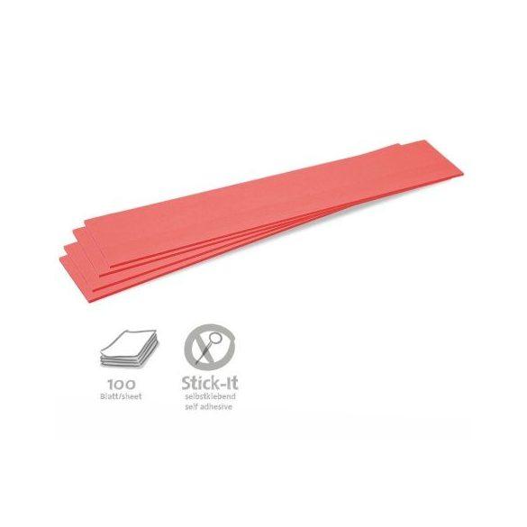 Stick-It Feliratcsík öntapadós moderációs kártya 100 db piros
