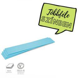 Stick-It Feliratcsík öntapadós moderációs kártya 100 db kék