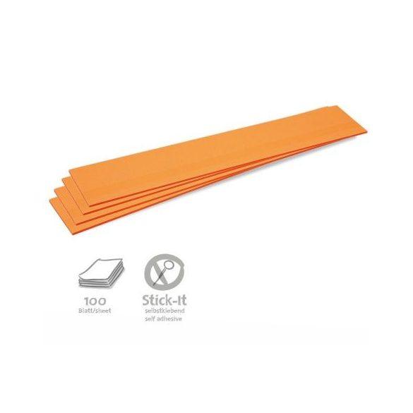 Stick-It Feliratcsík öntapadós moderációs kártya 100 db narancs