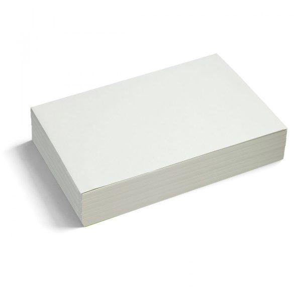 Téglalap moderációs  kártya 250 db /csomag nagy, fehér