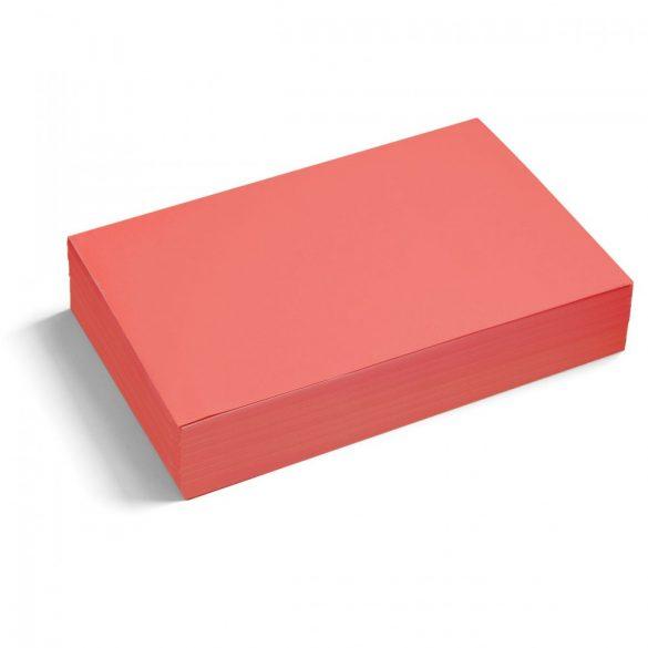 Téglalap moderációs kártya 250 db /csomag nagy, piros