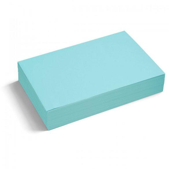 Téglalap moderációs kártya 250 db /csomag nagy, kék