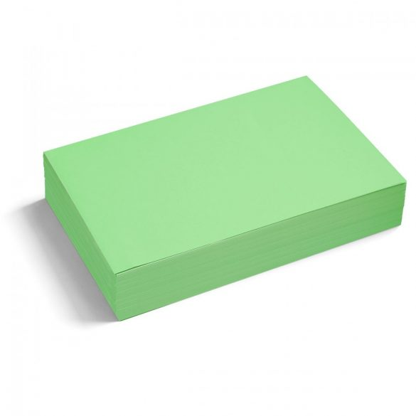 Téglalap moderációs kártya 250 db /csomag nagy, zöld