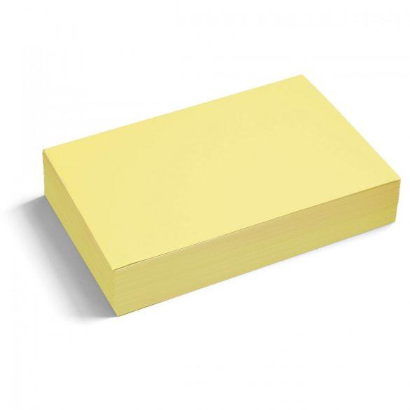 Téglalap moderációs kártya 250 db /csomag nagy, sárga