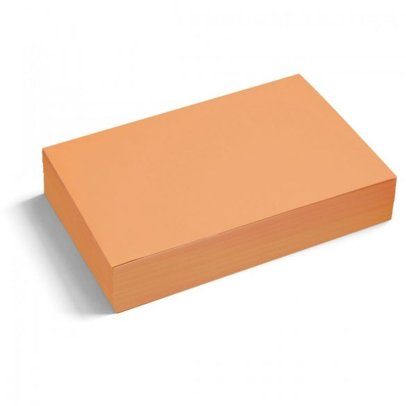 Téglalap moderációs kártya 250 db /csomag nagy, narancs
