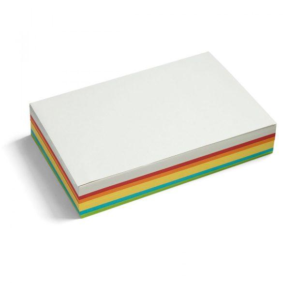 Téglalap moderációs kártya 250 db /csomag nagy, vegyes szín