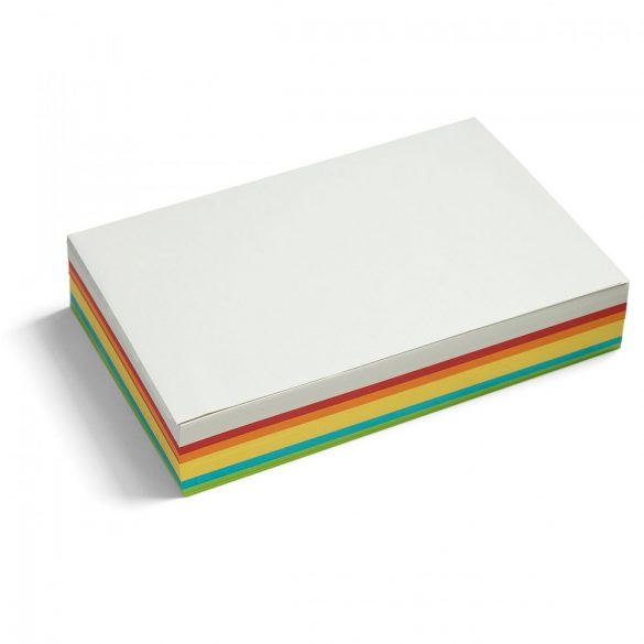Téglalap Pin-It moderációs kártya 250 db, nagy méret, vegyes szín