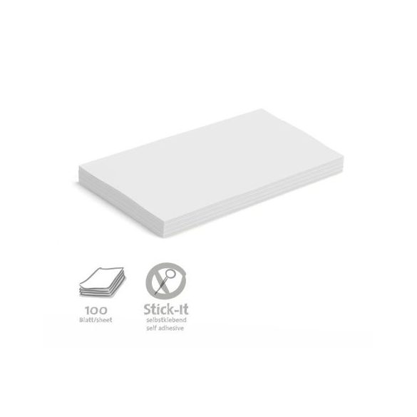 Stick-It Öntapadós 14,9 x 20,7 cm nagy téglalap moderációs kártya 100 db fehér
