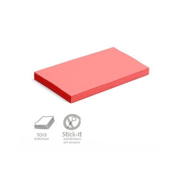 Stick-It Öntapadós 14,9 x 20,7 cm nagy téglalap moderációs kártya 100 db piros