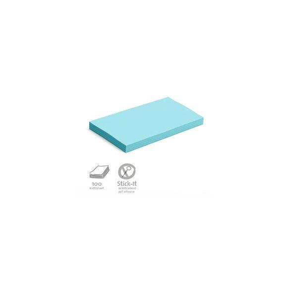 Stick-It Öntapadós 14,9 x 20,7 cm nagy téglalap moderációs kártya 100 db kék