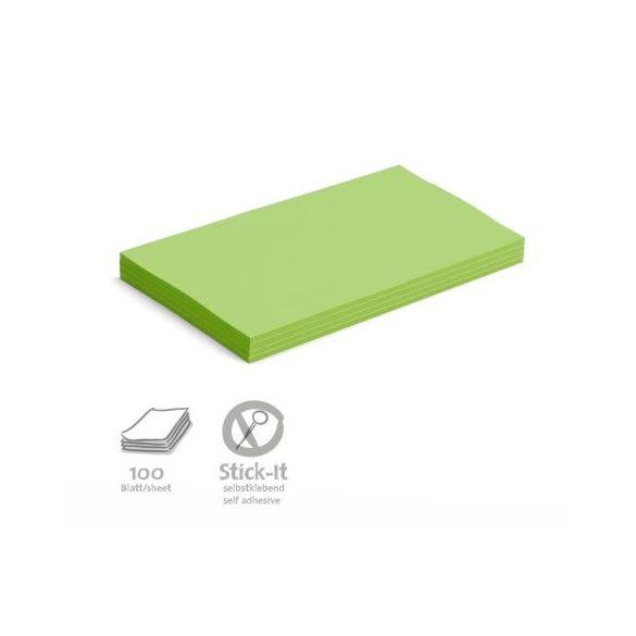 Stick-It Öntapadós 14,9 x 20,7 cm nagy téglalap moderációs kártya 100 db zöld